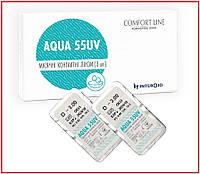 Контактные линзы Aqua 55 UV на 1 месяц, 1 шт, Interojo