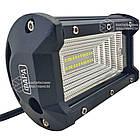 Фара LED прямоугольная 72W (24 диода) 133 мм (широкий луч), фото 2