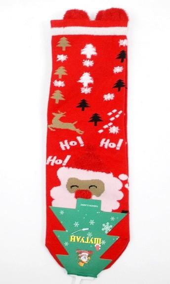 Носки новогодние с ушками 2327-4 размер 37-40