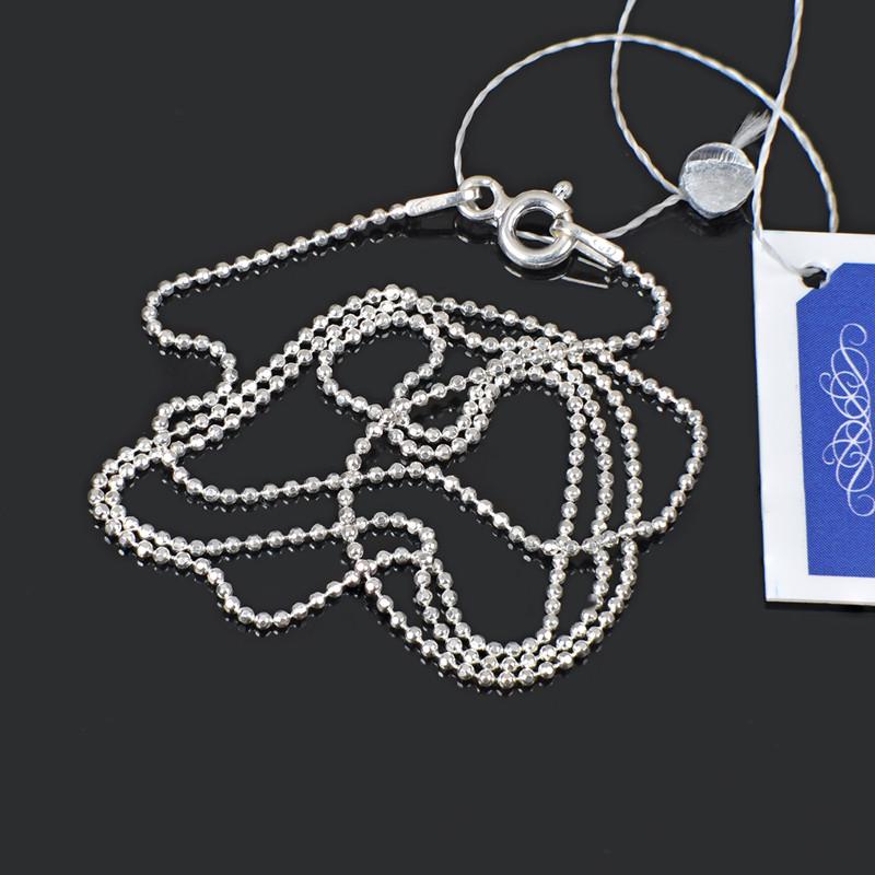 Серебряная тонкая женская цепочка шарики