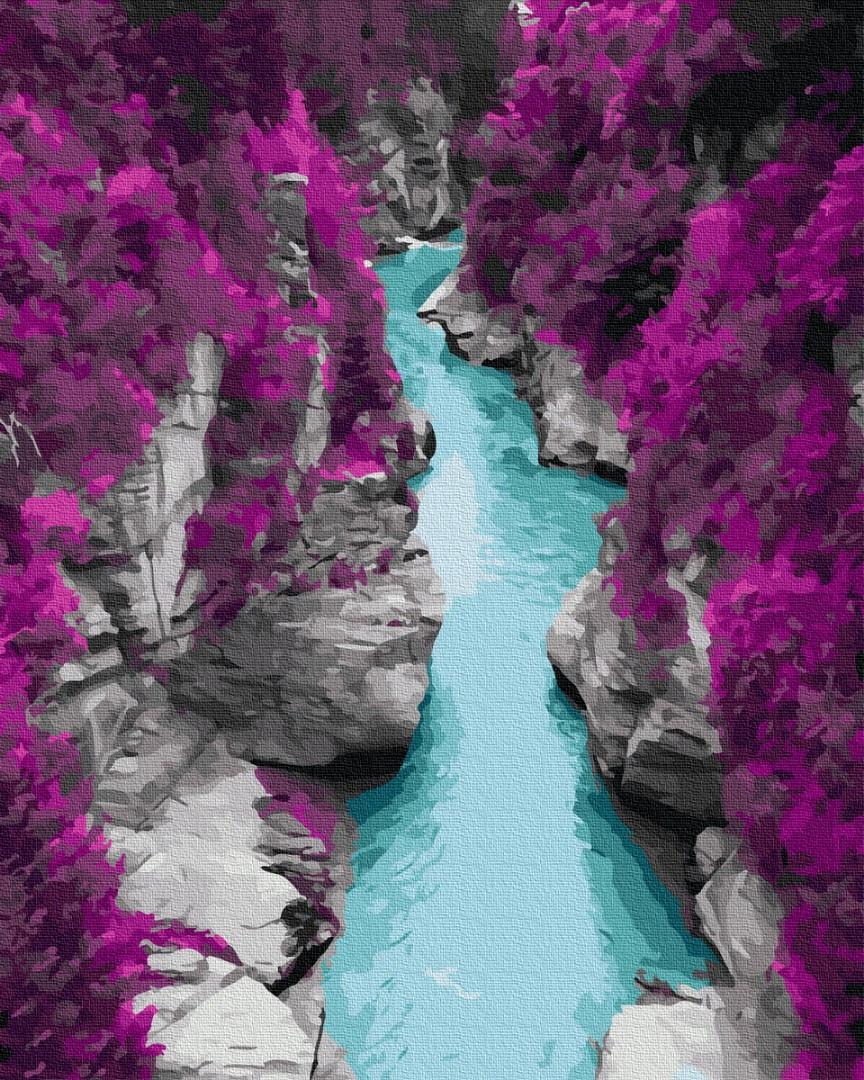 Картина по номерам - Голубые воды в скалах Brushme 40*50 см. (GX36081)