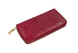 Кошелек Ekzotic Leather из натуральной кожи крокодила Бордовый  (cw 82_4)