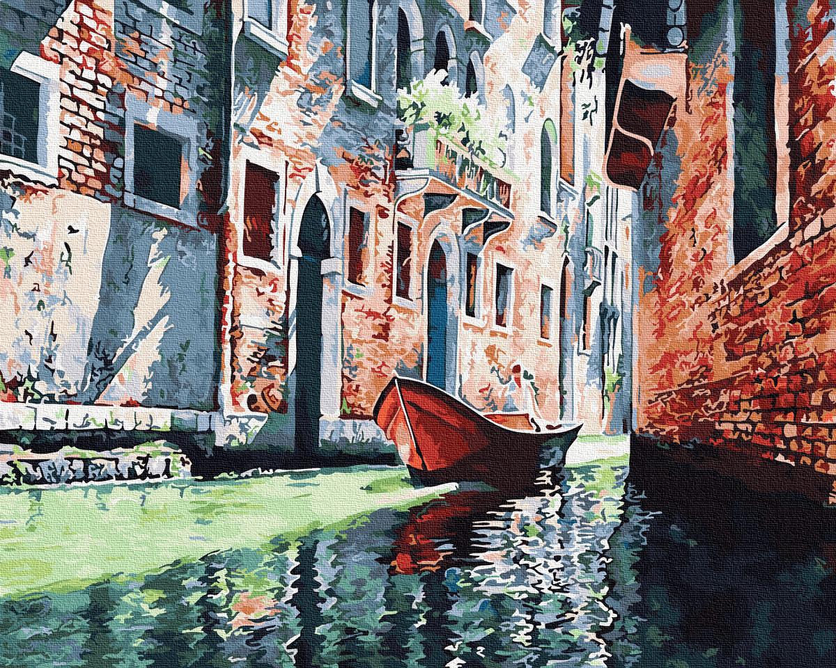 Картина по номерам - Гондола на канале Венеции Brushme 40*50 см. (GX31590)