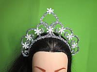 Святкова корона сніжинки, срібляста
