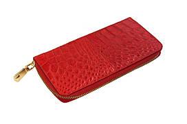 Кошелек Ekzotic Leather из натуральной кожи крокодила Красный  (cw 82_5)