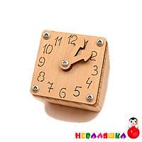 Заготовка для Бизикубика Малые Часы со Стрелочками 4,8 см Часики Будильник Дерев'яний годинник для бізікубика, фото 1