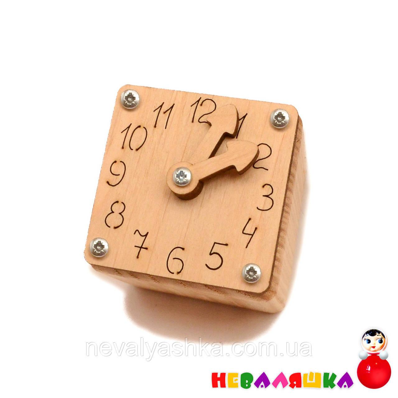 Заготовка для Бизикубика Малые Часы со Стрелочками 4,8 см Часики Будильник Дерев'яний годинник для бізікубика