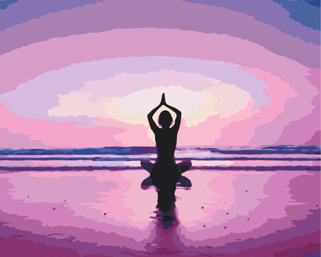 Картина по номерам - Медитативная практика 2 Brushme 40*50 см. (GX34816)