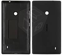 Задняя панель корпуса для Nokia Lumia 520, c боковыми кнопками, черный, оригинал