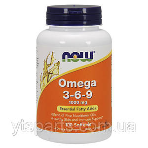 Омега NOW Omega 3-6-9 1000 mg 100softgels