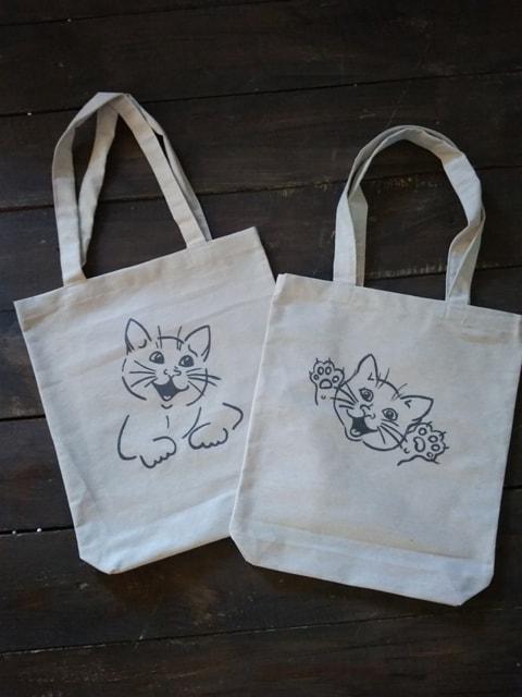 Еко-сумка (шопер) з малюнком Веселе кошеня (548.02)