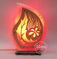 Соляная лампа светильник Огонек с узором
