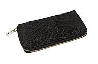 Кошелек Ekzotic Leather из натуральной кожи крокодила Черный  (cw 82_6), фото 1