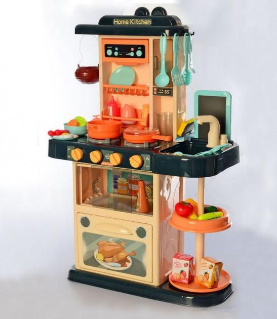 Детская игровая кухня 889-179 со звуковыми и световыми эффектами , водой, 43 предмета, высота 72 см