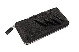 Кошелек-клатч Ekzotic Leather из натуральной кожи крокодила Черный   (cw 28_1)