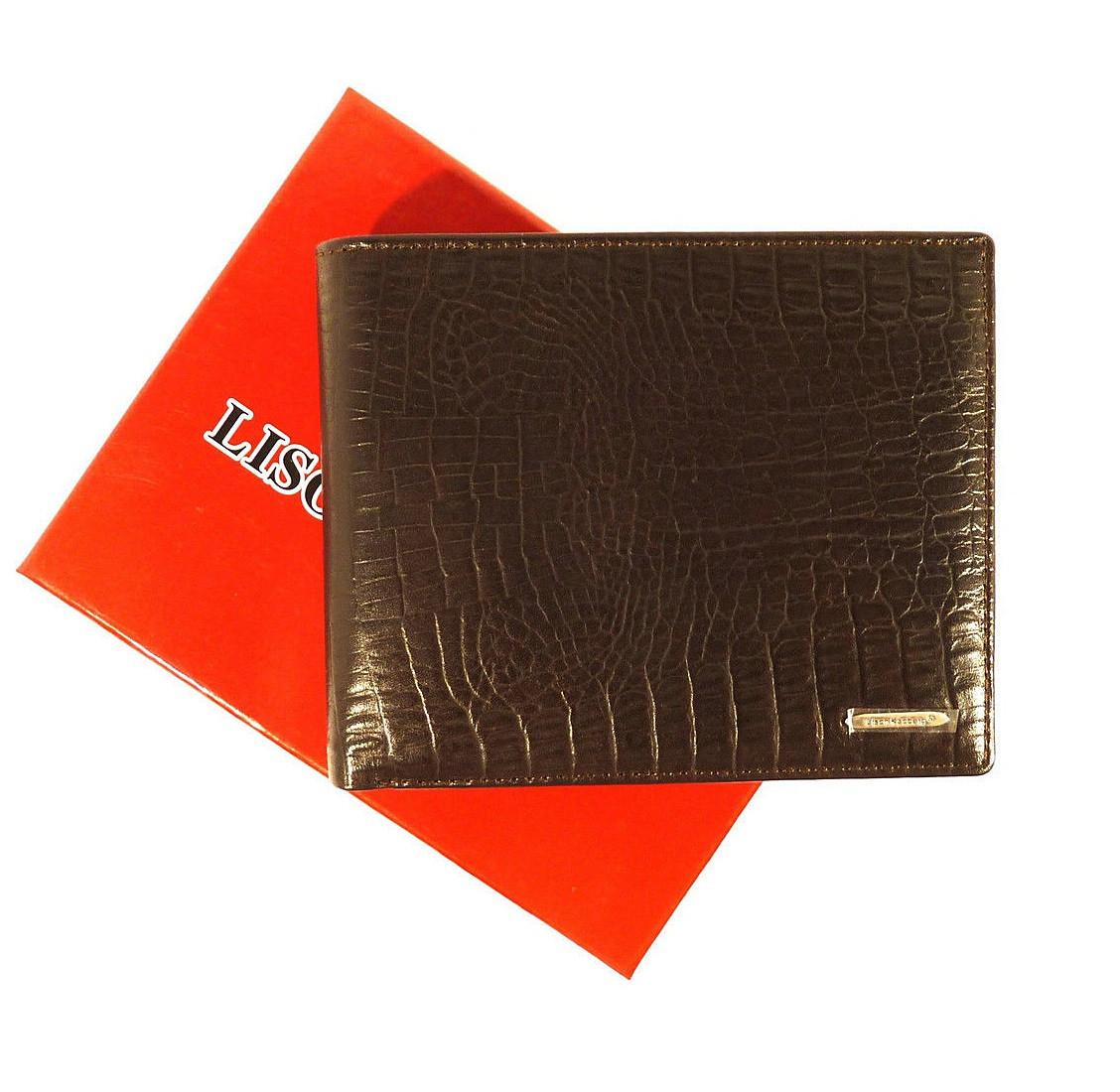 Кошелек кожаный мужской черный Lison Kaoberg 35006