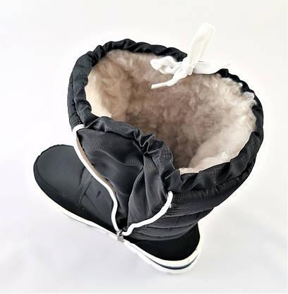 Зимние Женские Дутики в стиле ADIDAS Сапоги на Меху Теплые Черные (размеры: 36,37,38,39,41), фото 2