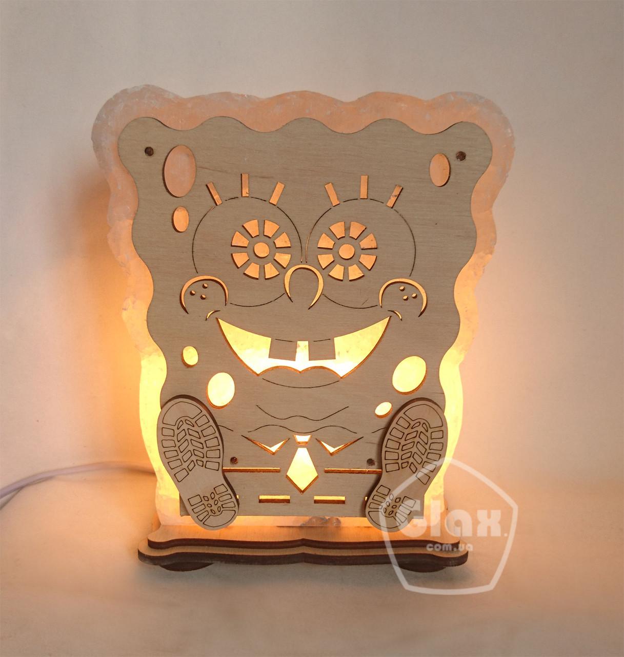 """Соляна лампа світильник """"Спанч Боб"""""""