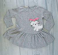 Платье для девочек Котик Серый Хлопок Breeze Турция