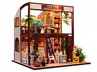 "3D Румбокс Кафе ""Coffee House"" DIY DollHouse + защитный купол, фото 1"