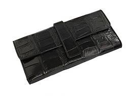 Кошелек из кожи крокодила женский  Ekzotic Leather Черный (cw24)
