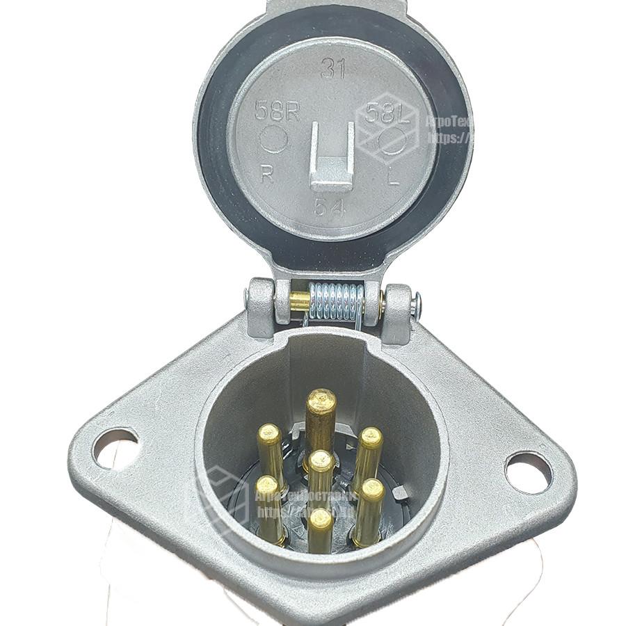 Разъем электрический (розетка) ЕВРО (N - тип) (мама) (7 контактов - латунь) ПС-325