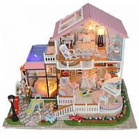 """3D Румбокс Кукольный Домик """"Sweet Words"""" DIY DollHouse + защитный купол"""