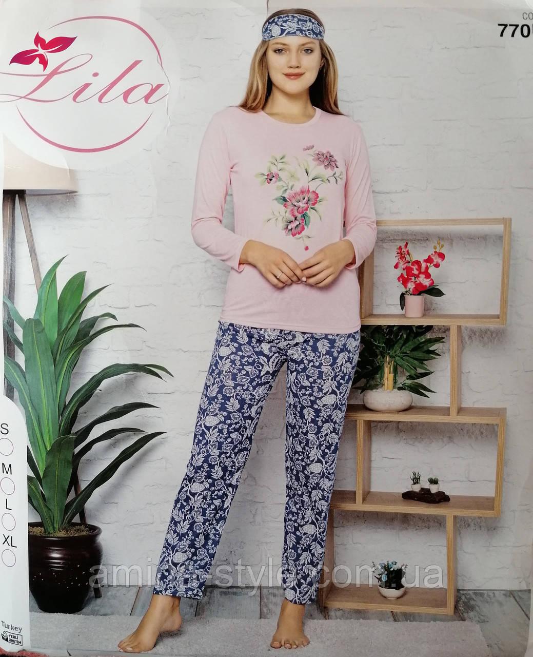 Пижама женская. Комплект домашний хлопок. Размер L