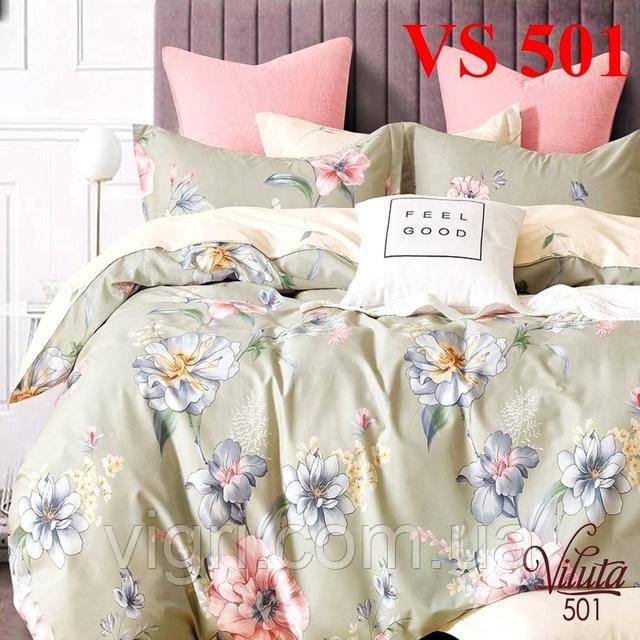 Постельное белье евро комплект, сатин, Вилюта «Viluta» VS 501