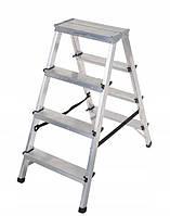 Лестница-стремянка Aloft алюминиевая двухсторонняя, 2*4 ступ., (ALDD4)