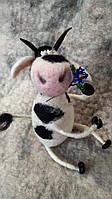 """Валяный бык """"Мачо"""", сухое валяние игрушка для интерьера, подарок на новый год, символ нового года, фото 1"""