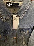 Джинсовая куртка с принтом на всю спину, джинсовка oversize, фото 7