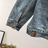 Джинсовая куртка с принтом на всю спину, джинсовка oversize, фото 3