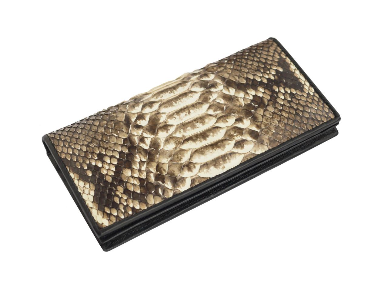 Кошелек из кожи питона Ekzotic Leather Бежевый (snw 48)