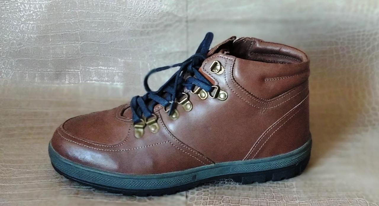 Ботинки мужские зимние Pierre Cardin. Натуральная кожа и мех. (Оригинал). 40 размер