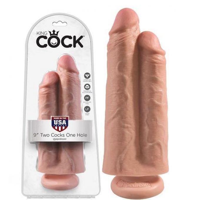 """Двойной фаллоимитатор Pipedream King Cock 9"""" Two Cocks One Hole"""