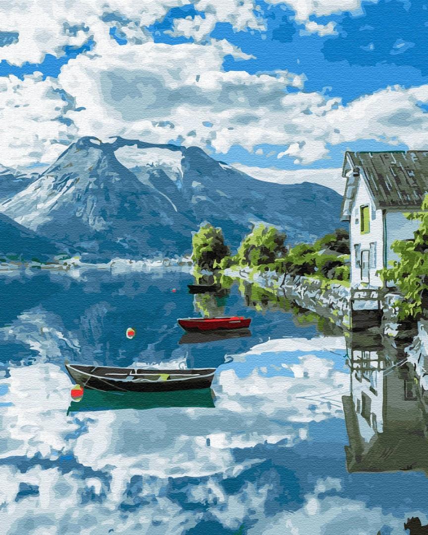 Картина по номерам - Провинция Норвегии Brushme 40*50 см. (GX32309)