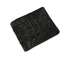 Гаманець чоловічий Ekzotic Leather з натуральної шкіри крокодила Чорний (cw 118)