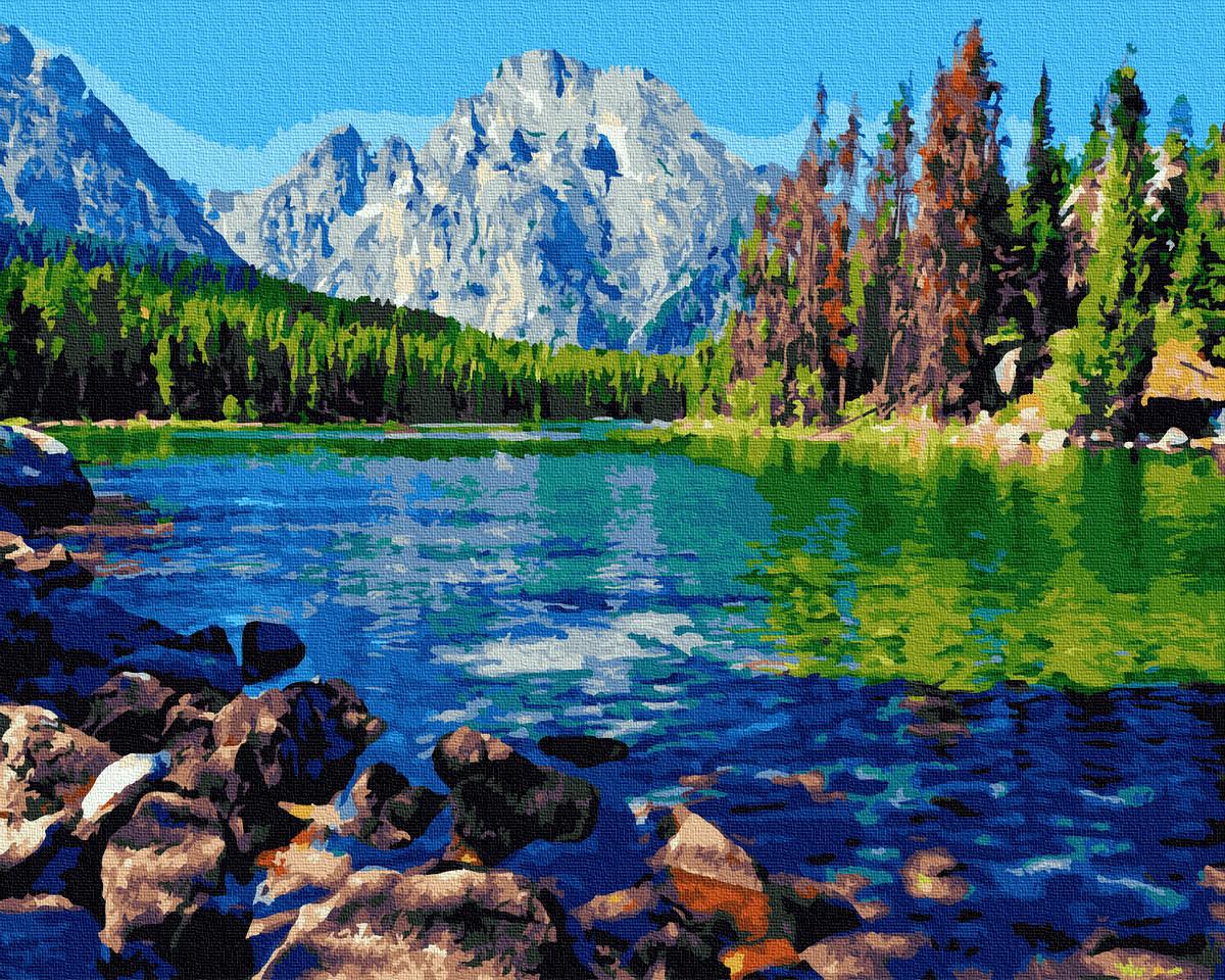 Картина по номерам - Горный пейзаж Brushme 40*50 см. (GX36073)