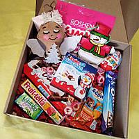Новогодний детский подарочный набор с ангелом и сладости. Оригинальный подарок на день Св. Николая, Новый год