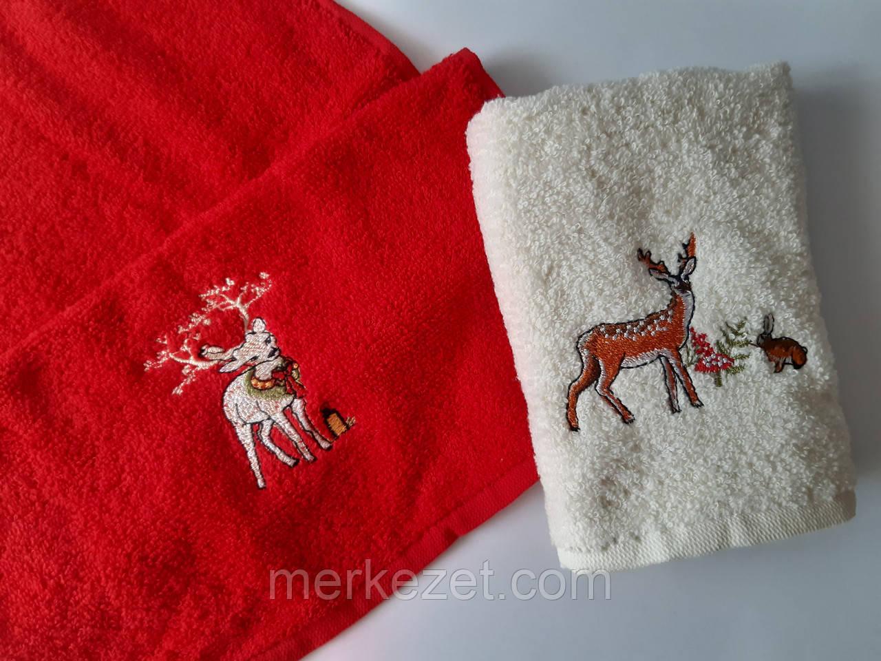 """Полотенца. Новогодние полотенце для кухни """"Merry Christmas"""". Махровые полотенца. Наборы кухонных полотенец"""