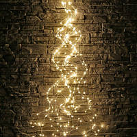Свисающая гирлянда (Конский Хвост) или Лучи Росы,10 нитей, 2м тепло-белый,200 Led