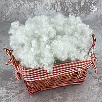 Холлофайбер 1 кг универсальный наполнитель для одеял, подушек, мягких игрушек (шарики) белый T-55108