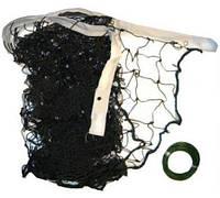 Сетка волейбольная 9.5х1м, ячейка 10х10см: металлический трос в комплекте