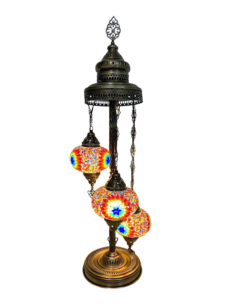 Напольный турецкий светильник Sinan из мозаики ручной работы цветной 5