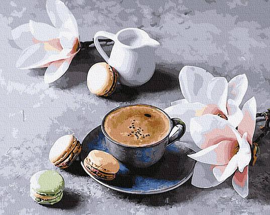 Картина по номерам - Кава з орхідеями Brushme 40*50 см. (GX34316), фото 2
