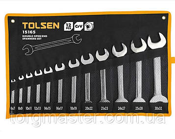 Набор ключей рожковых TOLSEN, 6-32мм,12шт
