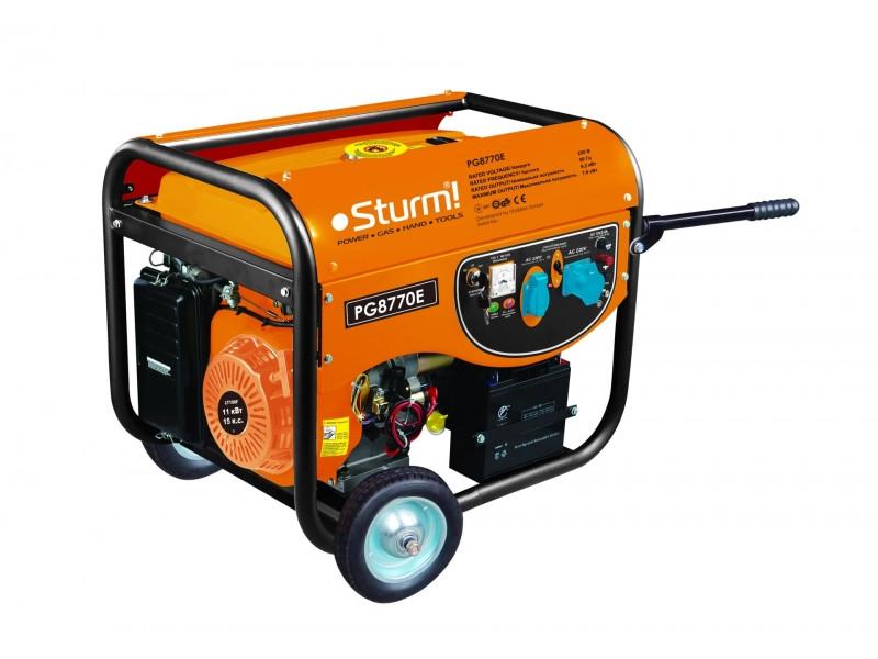 Бензиновый электрогенератор Sturm PG8770E 7 kW медная обмотка