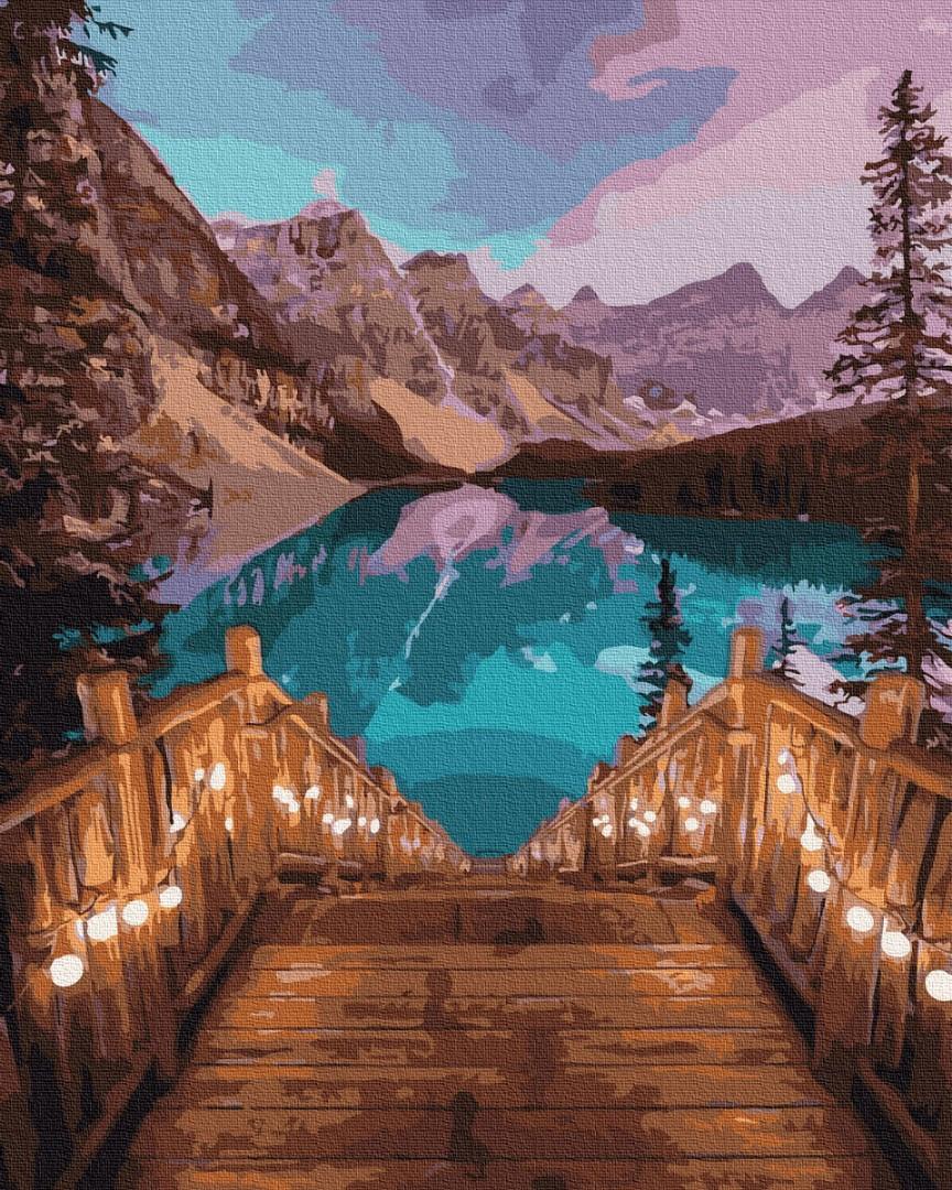 Картина по номерам - Романтический вечер на озере Комо Brushme 40*50 см. (GX31439)