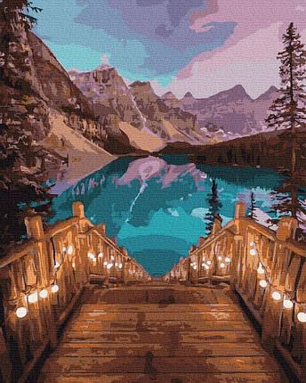 Картина по номерам - Романтический вечер на озере Комо Brushme 40*50 см. (GX31439), фото 2